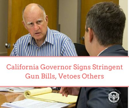 California ‪Governor ‪‎Signs ‪‎Stringent ‪‎Gun ‪‎Bills, Vetoes Others